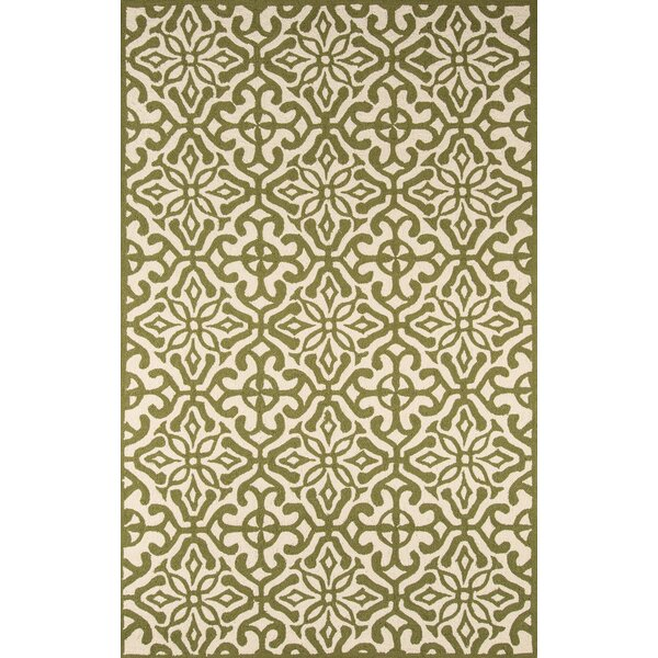 St James Hand-Hooked Green Indoor/Outdoor Area Rug by Charlton Home