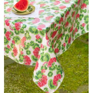 Lovely Oilcloth Round Tablecloth