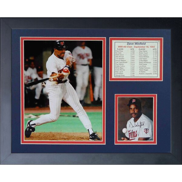 Dave Winfield - 3000th Hit Framed Memorabilia by Legends Never Die