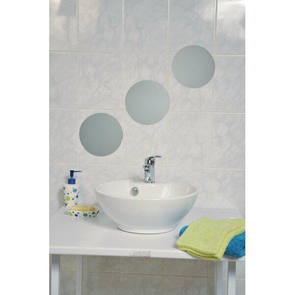 Mirrorfina Adhesive Round Bath Wall Mirror (Set of 3) by Evideco