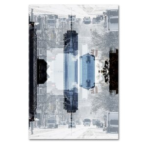 New York Reflection V Photographic Print on Wrapped Canvas by Latitude Run