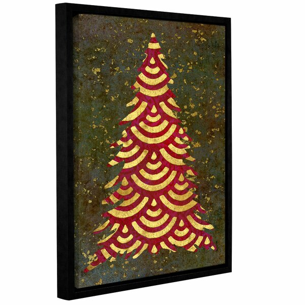 Xmas Tree Garland Framed Graphic Art on Wrapped Canvas by The Holiday Aisle