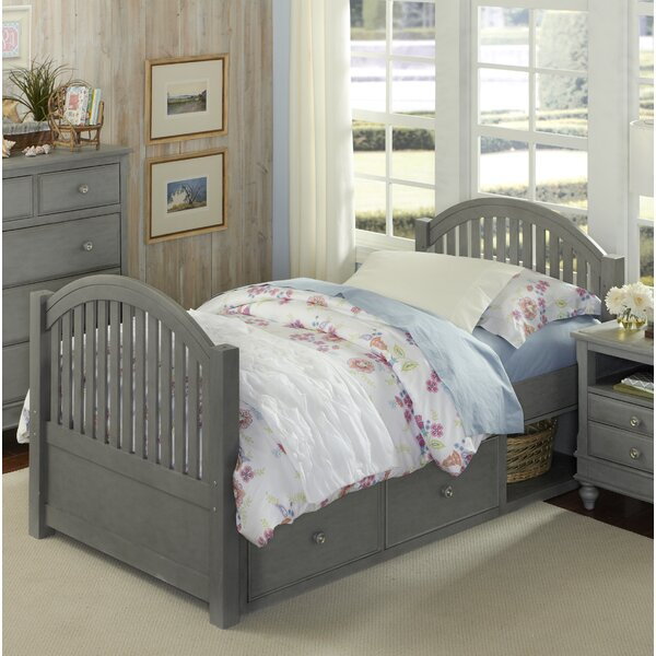Brielle Twin Panel Bed with One Drawer by Harriet Bee