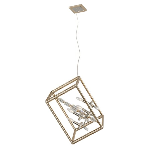 Staton 4 - Light Unique / Statement Square / Rectangle Chandelier by Everly Quinn Everly Quinn