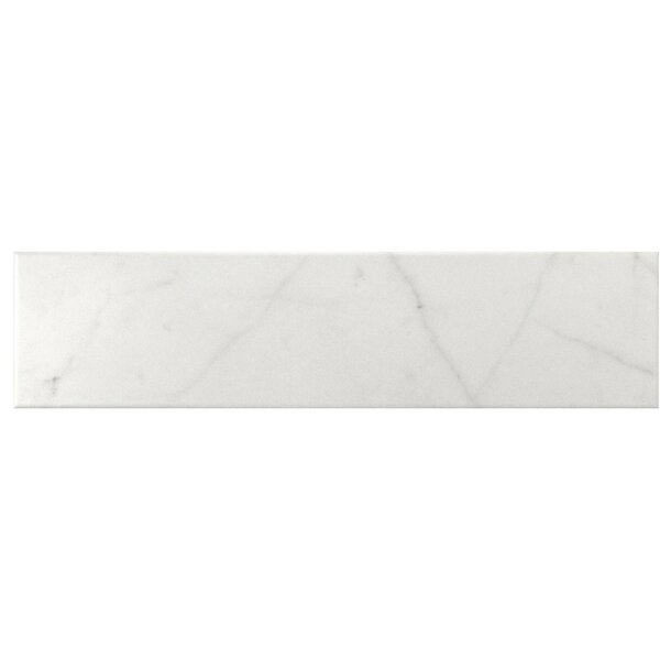 Karra Carrara 3 x 12 Ceramic Subway Tile in Matte White/Gray by EliteTile