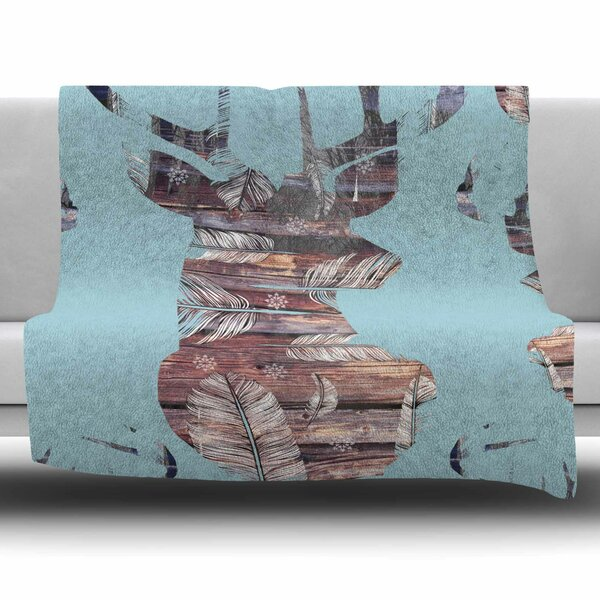 Wild And Free by Suzanne Carter Fleece Blanket by East Urban Home