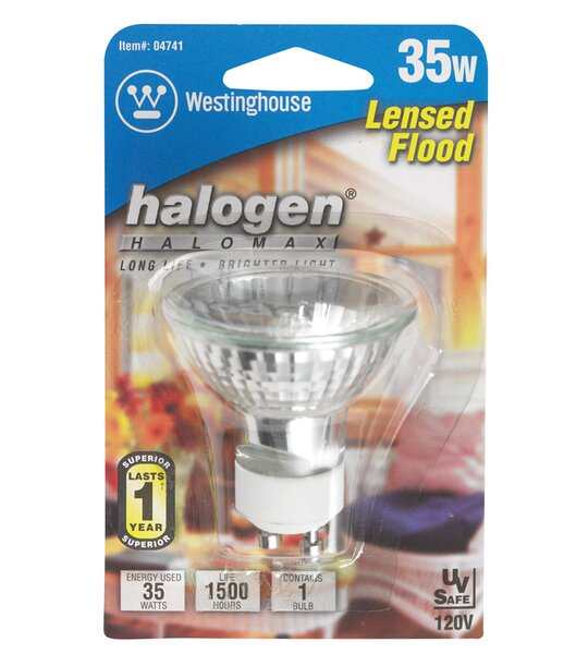 35W GU10 Dimmable Halogen Floodlight Light Bulb by Westinghouse Lighting