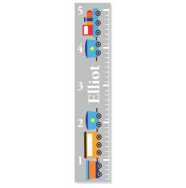 Train Growth Chart by Decor Designs  Decals