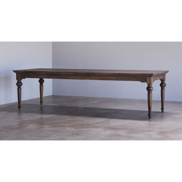Cillian Solid Wood Dining Table by Bungalow Rose