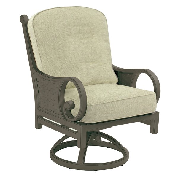 Riviera Swivel Rocking Chair with Cushion by Leona