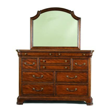 Edith 9 Drawer Dresser with Mirror by Darby Home Co