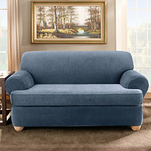 #1 Stretch Stripe T-Cushion Sofa Slipcover By Sure Fit Wonderful