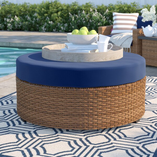 Waterbury Outdoor Ottoman with Cushion by Sol 72 Outdoor Sol 72 Outdoor