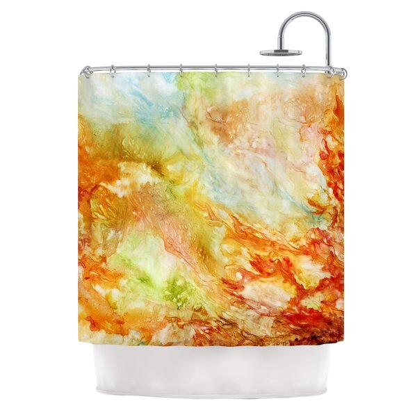 Autumn Breeze by Rosie Brown Shower Curtain by East Urban Home