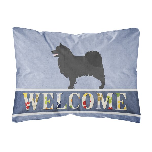Lam Swedish Lapphund Welcome Indoor/Outdoor Throw Pillow by Winston Porter