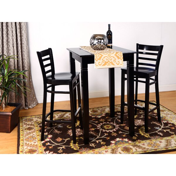 Eakin Ladderback 3 Piece Pub Table Set by Darby Home Co