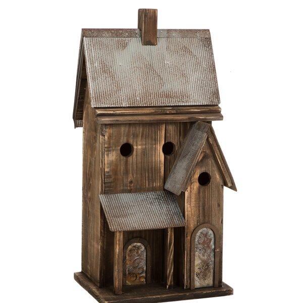 Wood 24 in x 11 in x 10 in Birdhouse by Glitzhome