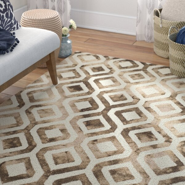Bettina Hand-Tufted Ivory/Chocolate Area Rug by Willa Arlo Interiors