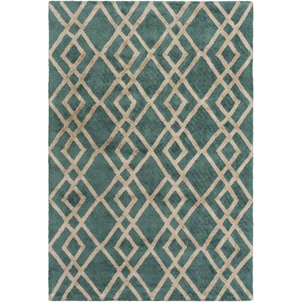 Bradt Hand-Tufted Emerald Area Rug by Wrought Studio