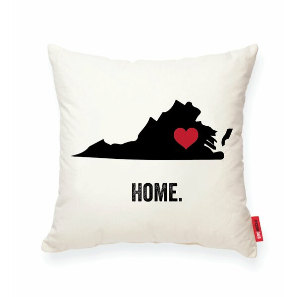 Pettry Virginia Cotton Throw Pillow by Wrought Studio