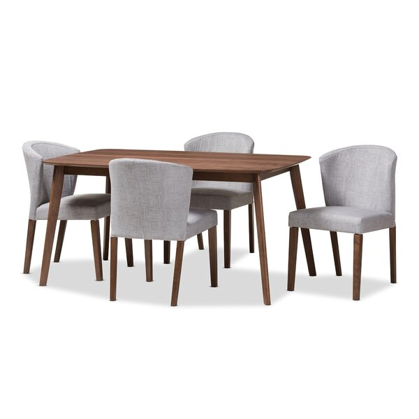 Dingler Mid-Century Wood 5 Piece Dining Set by George Oliver
