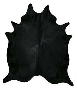 Dyed Brazilian Cowhide Black Area Rug by Pergamino
