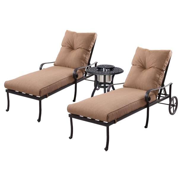 Carlitos Sun Lounger Set with Cushions by Darby Home Co Darby Home Co
