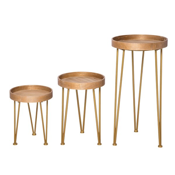 Bushman 3 Piece Nesting Tables By Ivy Bronx