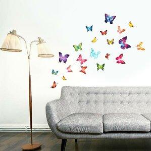 butterflies 28 wall decal