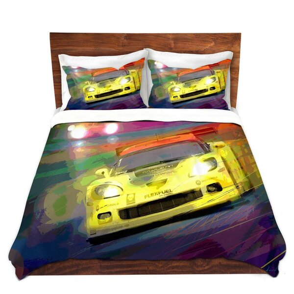 Corvette Lemans Racecar Duvet Cover Set