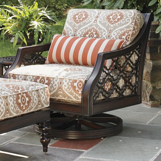 Royal Kahala Patio Chair with Cushion and Ottoman by Tommy Bahama Outdoor