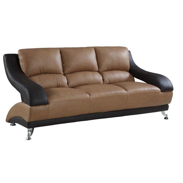 Kendleshire Leather Sofa By Latitude Run