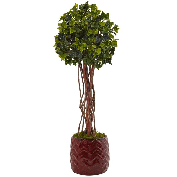 Artificial English Floor Ivy Topiary in Cylinder Planter by Darby Home Co