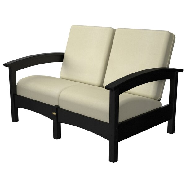 Rockport Club Deep Loveseat with Cushions with Sunbrella Cushions by Trex Outdoor