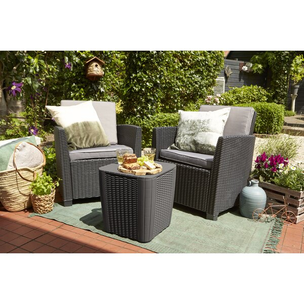 Berrios Balcony 3 Piece Bistro Set With Cushions By Highland Dunes by Highland Dunes Read Reviews