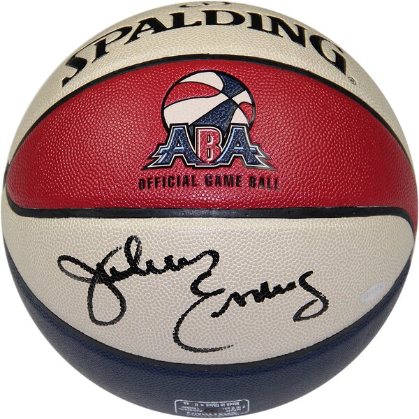 Julius Erving Signed ABA Basketball by Steiner Sports