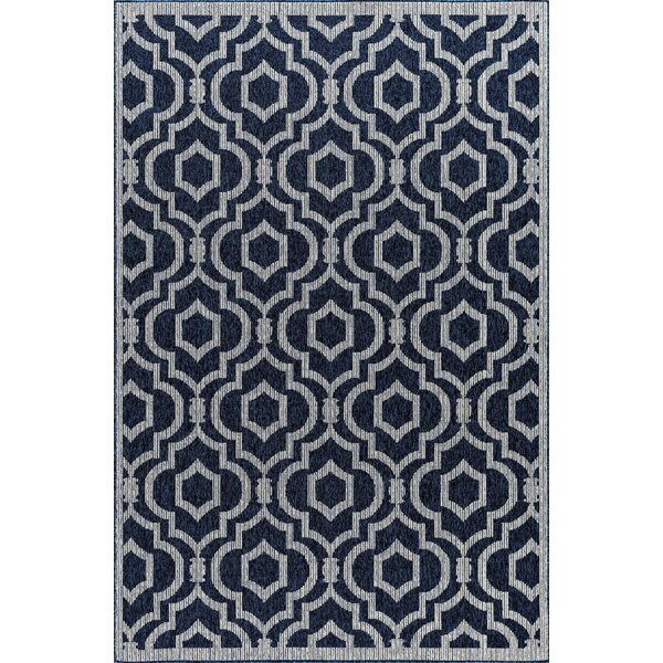 Ramsay High-Quality Navy Indoor/Outdoor Area Rug by Charlton Home