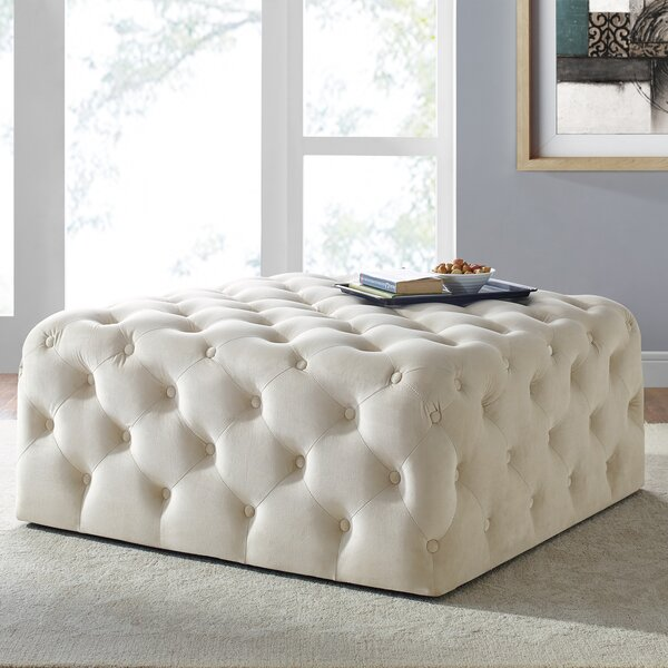 Ledezma Square Tufted Cocktail Ottoman by Mercer41