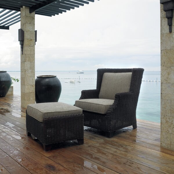 Outdoor Terrace Lounge Chair with Cushions by Padmas Plantation