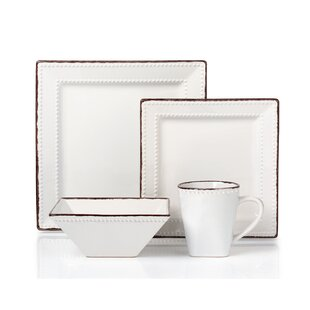 Square White Dinnerware Sets  sc 1 st  Wayfair & Square White Dinnerware Sets Youu0027ll Love   Wayfair