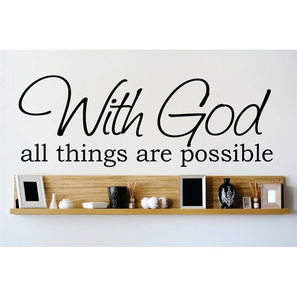 With God All Things Are Possible Wall Decal by Design With Vinyl