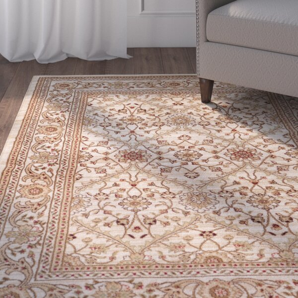 Bracken Cream Area Rug by Charlton Home