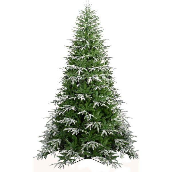 Hunter Green/Snow Fir Trees Artificial Christmas Tree by The Holiday Aisle