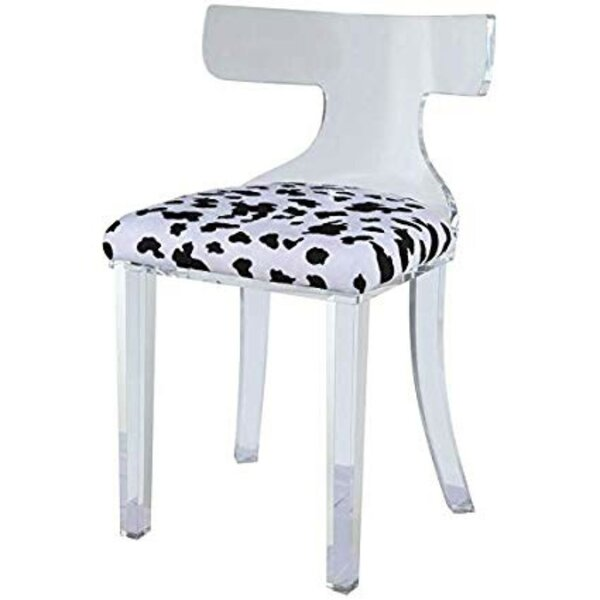Joetta Spotted Frame Side Chair By Everly Quinn