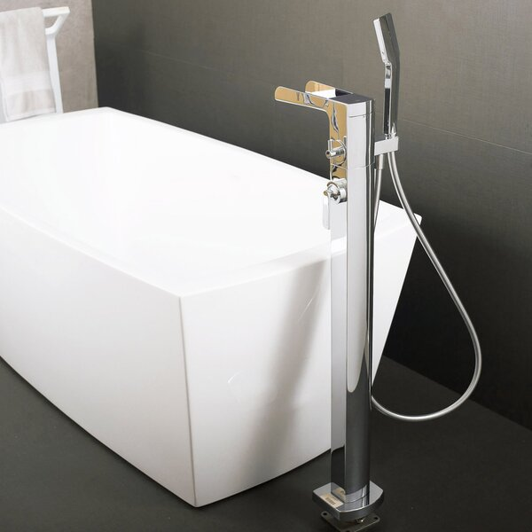 Hot Single Handle Floor Mounted Freestanding Tub Filler Trim With Hand Shower By DAX