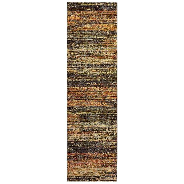 Bobby Power Loom Gold/Charcoal Rug