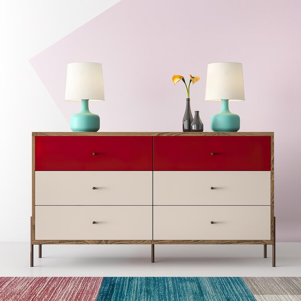 Alviso 6 Drawer Double Dresser By Hashtag Home