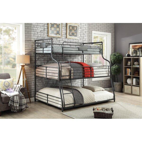 Prather Twin Over Full Over Queen Bunk Bed by Harriet Bee
