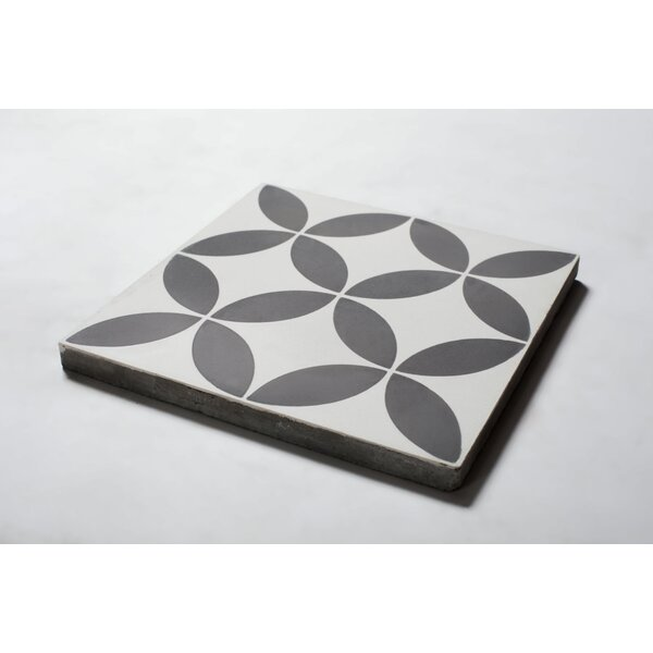 Wind 8 x 8 Cement Patterned Wall & Floor Tile