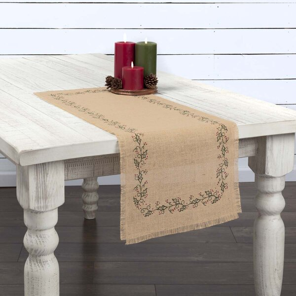 Lemaster Jute Burlap Ivy Table Runner by Gracie Oaks